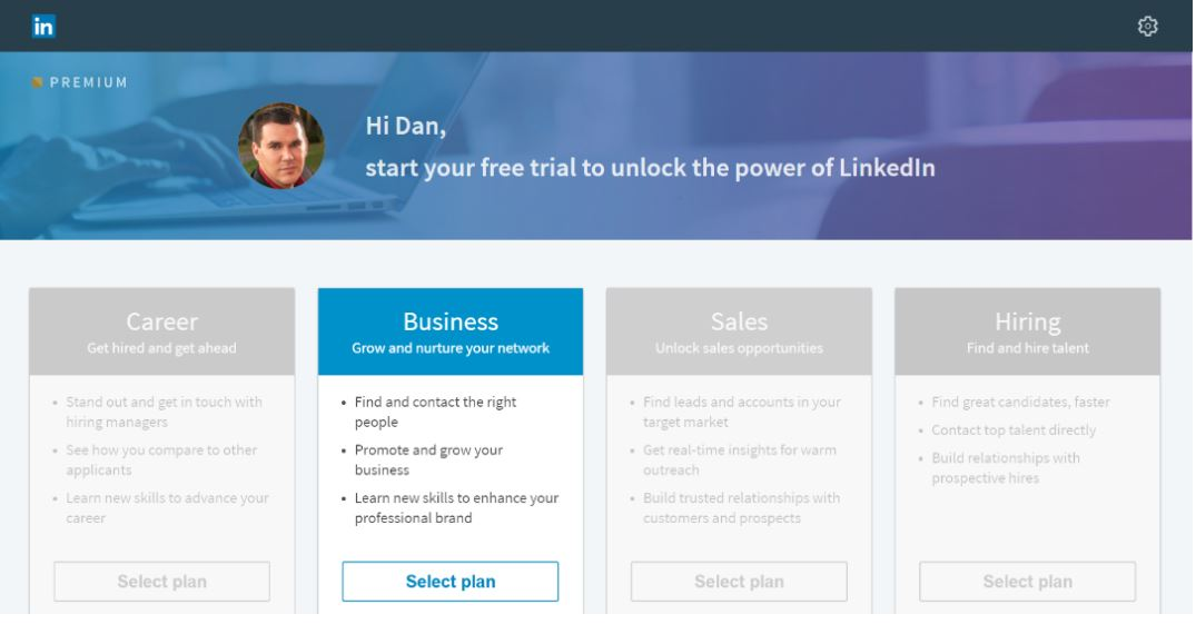 linkedin-subscription-page